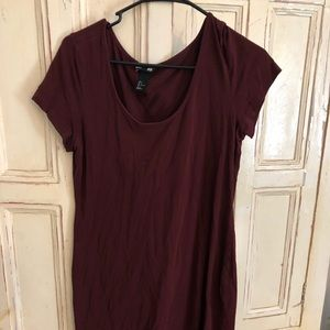 Maroon T-shirt dress